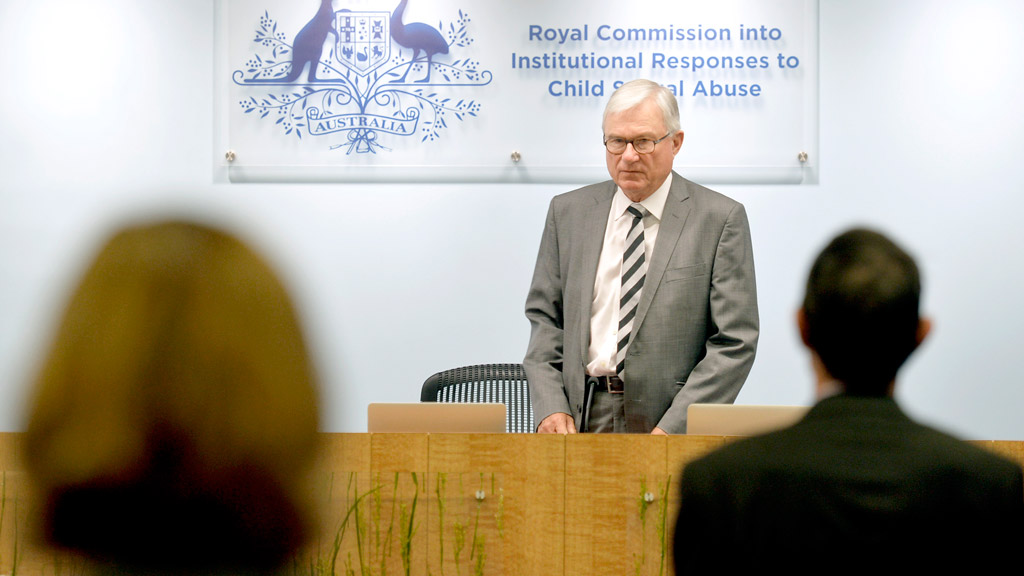 Justice Peter McClellan during the opening remarks at the Royal Commission into Child Sexual Abuse Public hearing on Tuesday. (AAP)