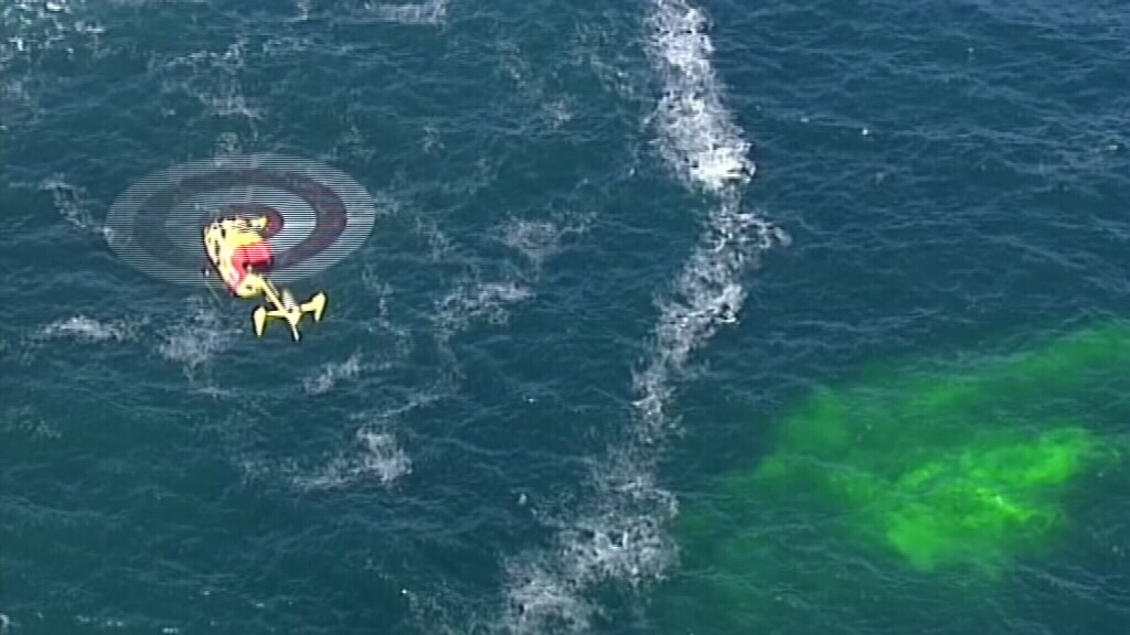 Dye has been thrown into the water to track currents. (9NEWS)