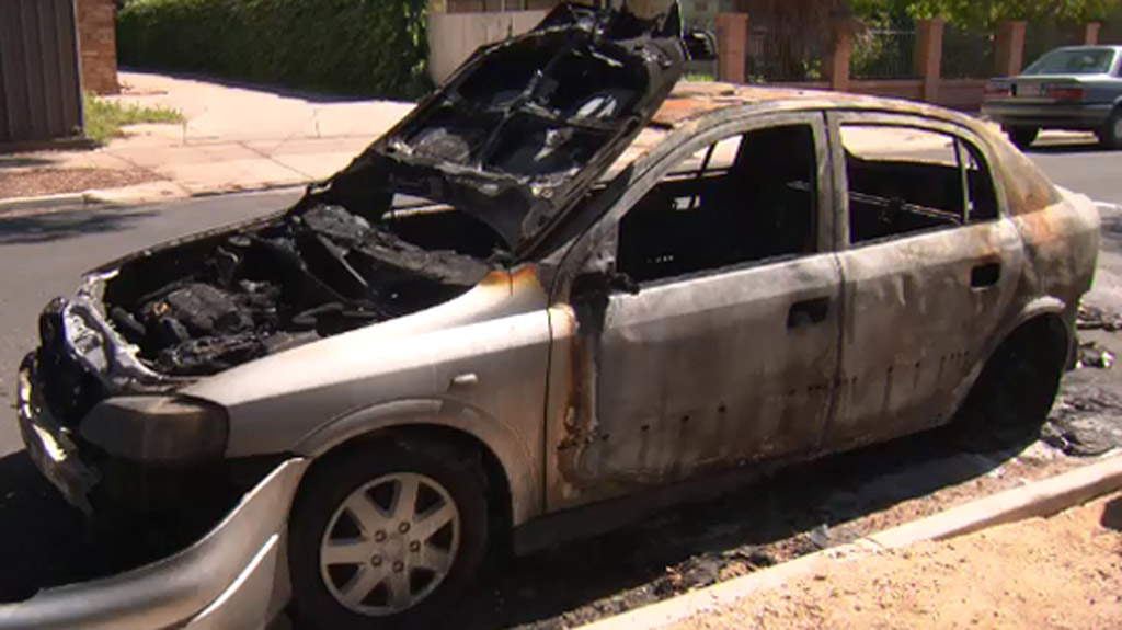 Police investigating deliberate torching of Adelaide car
