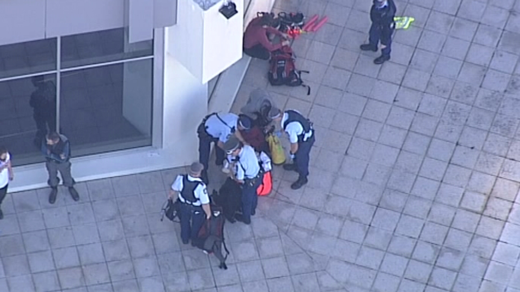 Greenpeace activists were reportedly behind the protest. (9NEWS)