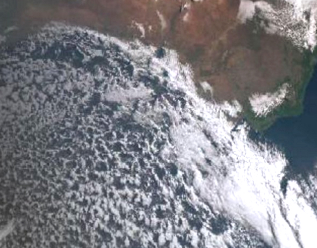 Huge storm front approaches the south coast of Australia,