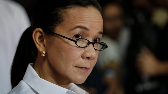 Contender Grace Poe dropped out overnight. (AAP)