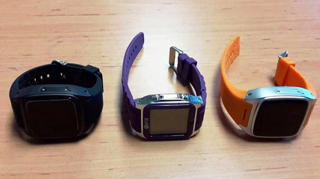 The three watches used in the plot. (Facebook)