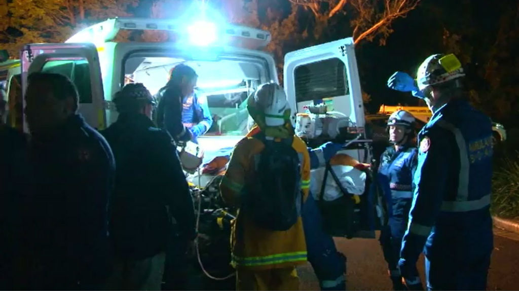 The woman fell nearly 20m during a bushwalk in the NSW Blue Mountains. (9News)