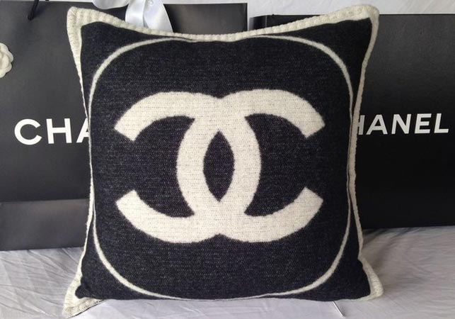 A Chanel cashmere pillow, which retails for $1350.
