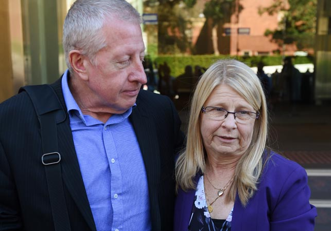Mark and Faye Leveson. (AAP)
