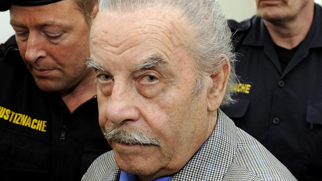 Defendant Josef Fritzl arrives at court on trial for incest and murder on March 19, 2009