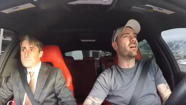 Chris Collins chauffeurs a wide-eyed Alex to his job interview. Source: YouTube
