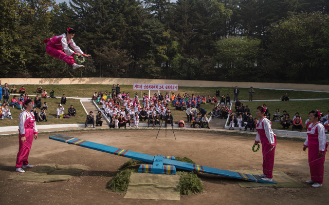 The see-saw event dates back to the Joseon dynasty. Source: KIM WON-JIN / AFP