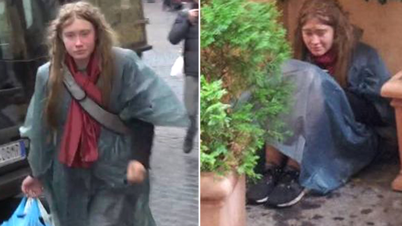 'Maria' has been spotted living rough on the streets of Rome. Source: Supplied