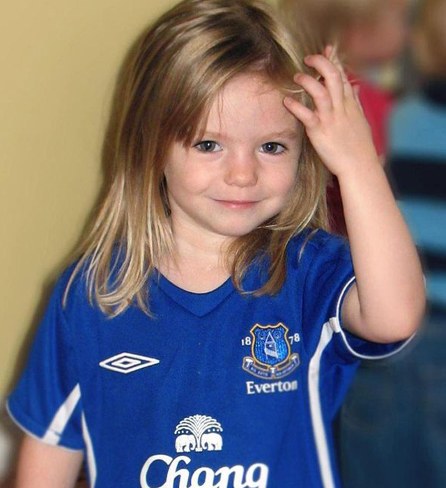 Madeleine McCann disappeared on May 3, 2007 from her bed in a holiday apartment in Praia da Luz, a resort in the Algarve region of Portugal. Source: Interpol