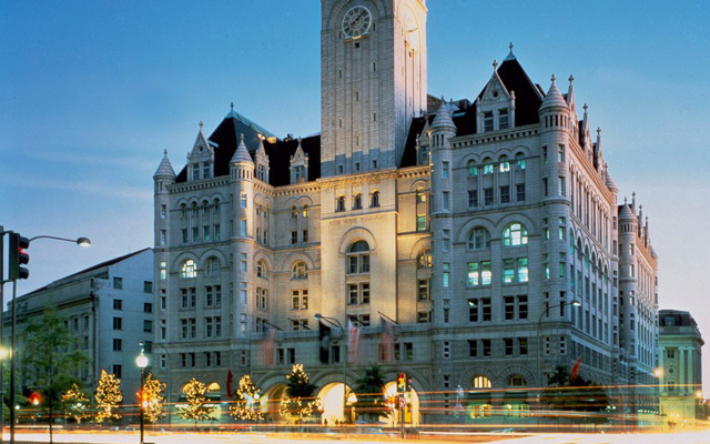 The Trump International Hotel in Washington D.C. is less than a mile from the White House.