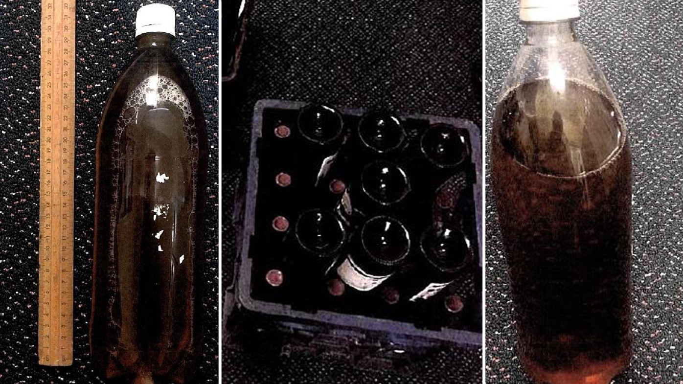 Toxic ingredients often used to make moonshine include anti-freeze, paint solvent and nail varnish. Source: Supplied