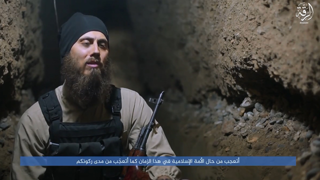 Australian doctor Tareq Kamleh, who now calls himself 'Abu Yusuf', appears to sit in a tunnel under Raqqa in IS video.