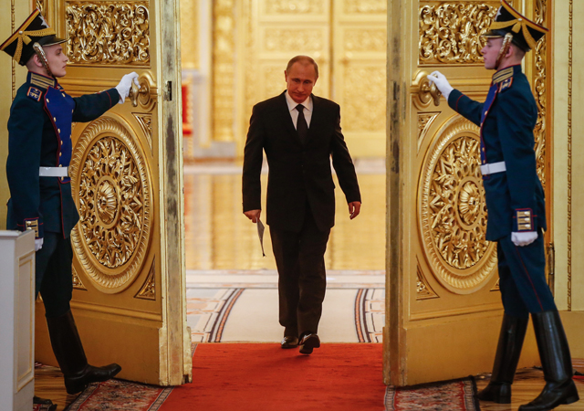 Russian President Vladimir Putin at the Kremlin in Moscow on March 17, 2015.