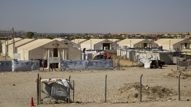 The camp where almost 1400 women and children, all foreign nationals and relatives of Islamic State militants, are kept. (GETTY)