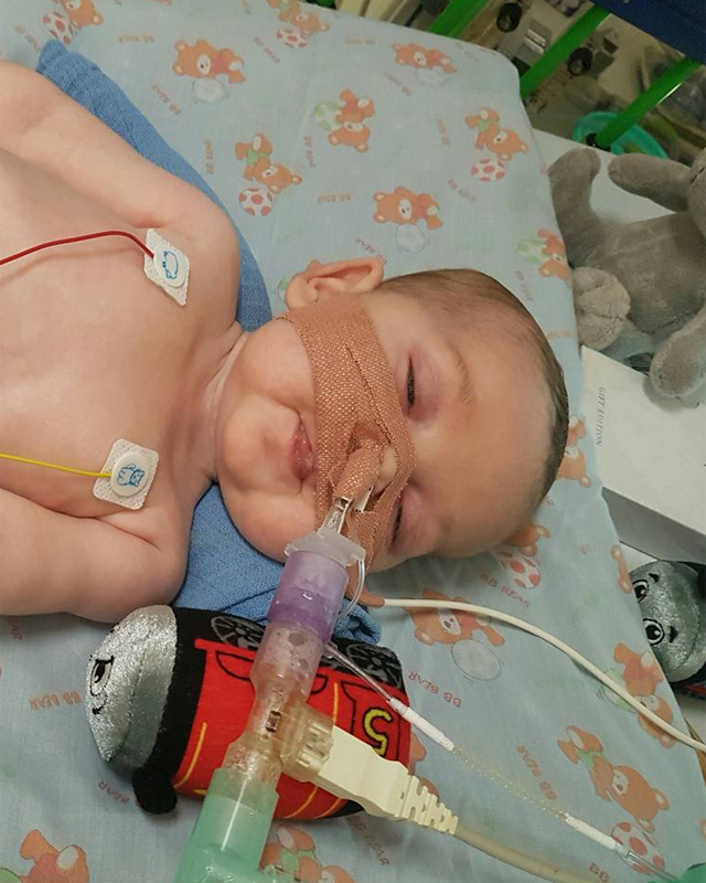 Charlie pictured at Great Ormond Street Hospital