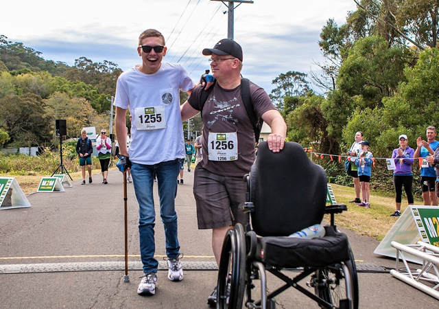 Michael Oakley (right) says medicinal cannabis literally saved the life of his son Ben. (Supplied)
