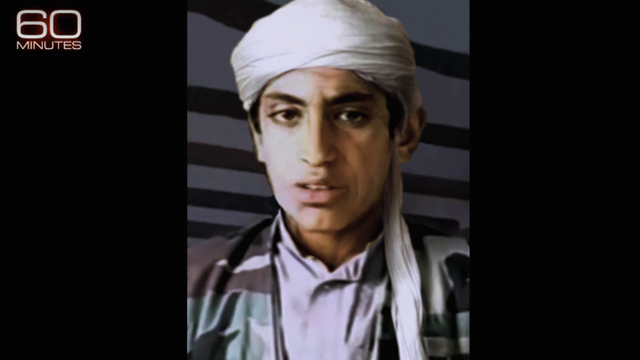 No photos or videos exist of Hamza bin Laden since September 11, 2001. A computer expert generated images of what he might look like today. Source: CBS