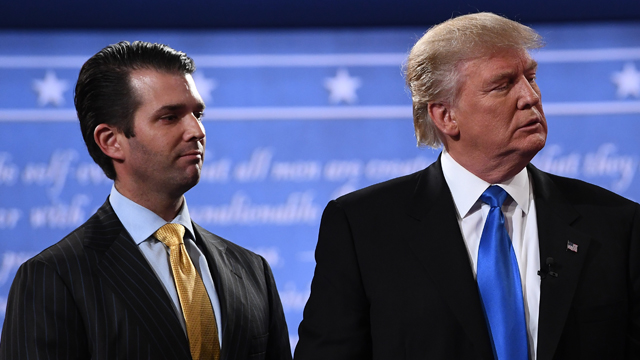 Donald Trump Jr questioned by Senate investigators