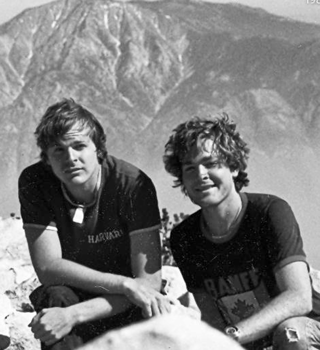 Scott Johnson and his brother Steve mountain climbing in Southern California – 1982. Photo: AAP