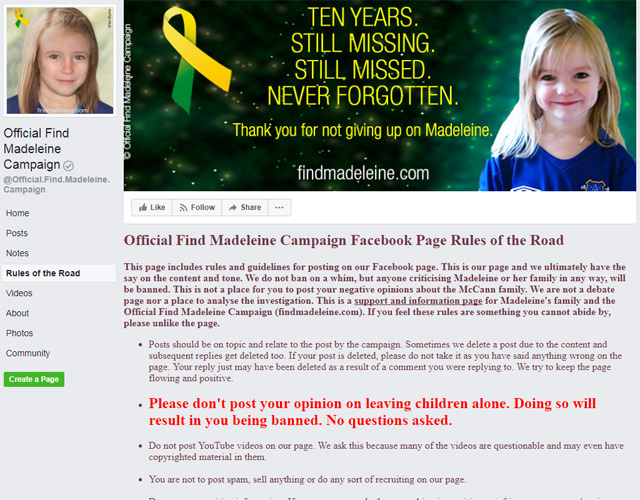 Mark Saunokonoko: Madeleine McCann webpage under fire over free speech and charity status claims 2808_mccann