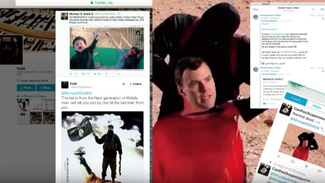 The head of Michael S. Smith transposed into a beheading scene by what he calls 'ISIS fan boys'. Smith is a US Congressional advisor on Islamic State's cyber operations. Source: Michael S. Smith II -  www.terrorismanalyst.com