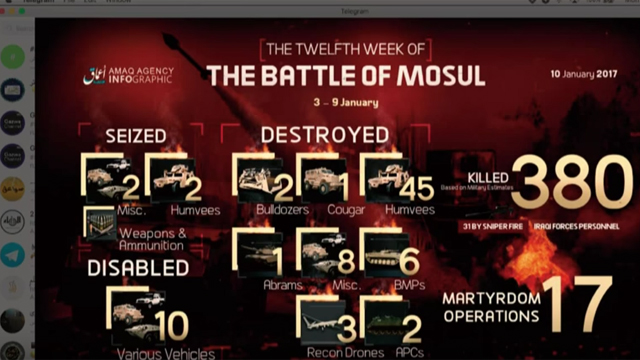 An example of an infographic dispersed across ISIS channels via Telegram. Source: Michael S. Smith II -  www.terrorismanalyst.com