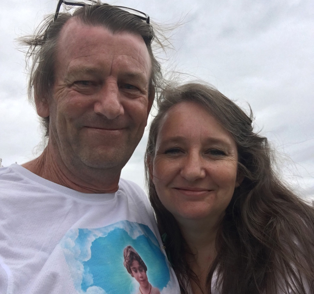 Craig Goodwin and Jenny Hallam. Ms Hallam is a compassionate supplier  of medicinal cannabis and was raided by police in January 2017. Source: Supplied
