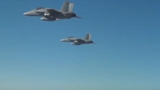 The 103 Perdix drones were launched from three F/A-18 Super Hornets in the sky above the Mojave desert.