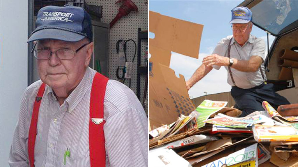 Elderly US man raises more than $500k selling recyclables to help local children's home
