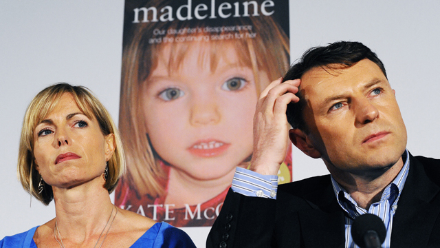 Kate and Gerry McCann attend a press conference for the launch of the book 'Madeleine' in London, on May 12, 2011.