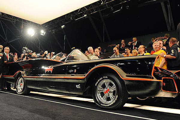 The Batmobile was a converted Lincoln built by George Barris. (Getty)
