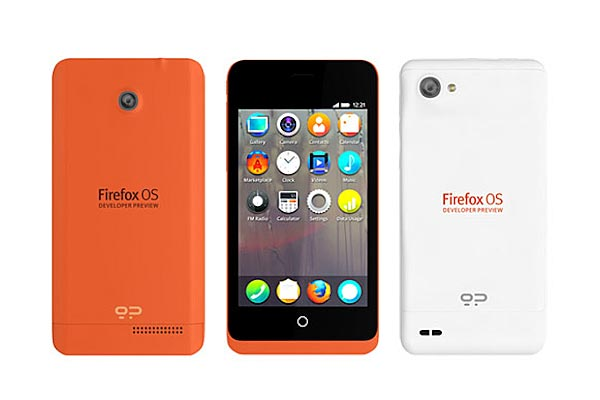 One of Mozilla's two new smartphone models.