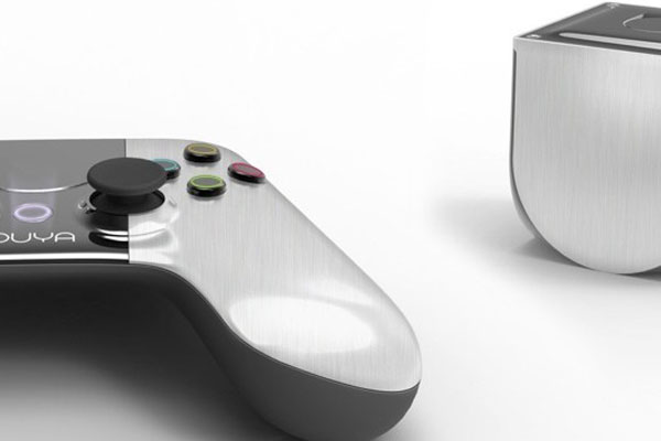 The crowd-funded Ouya videogame console.