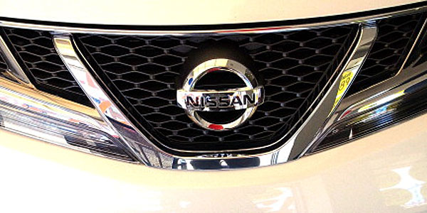 Front of Nissan car