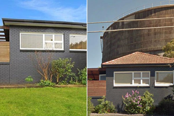 Agency has been accused of photo shopping out a water tower to sell a home.