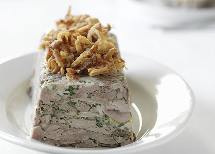 Pressed roast duck with crackling