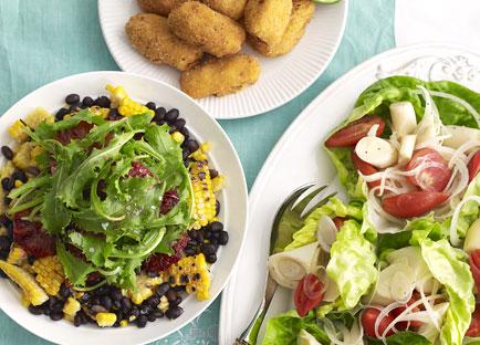 Black bean, corn and blood orange salad