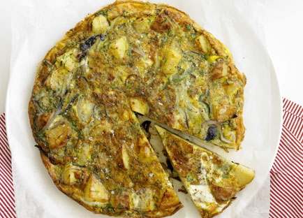 Potato and herb tortilla
