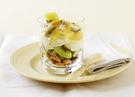 Kiwifruit and yoghurt trifle