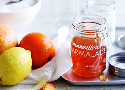 Orange and ruby grapefruit marmalade