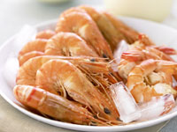 Prawns with chilli dipping sauce