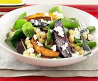 Chickpea, beetroot and pumpkin salad
