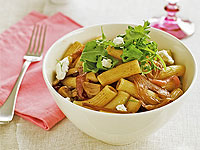 Fennel and goat's cheese rigatoni