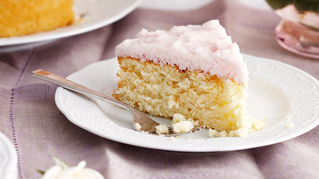 Moist Coconut Cake With Coconut Ice Frosting Recipe 9kitchen