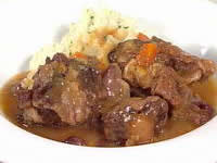 Braised Oxtail with Olives and Marmalade