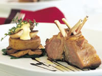 Lamb with garlic aioli and potato fondant