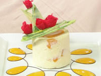 Champagne and peach bavarois