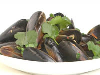Mussels in black bean sauce